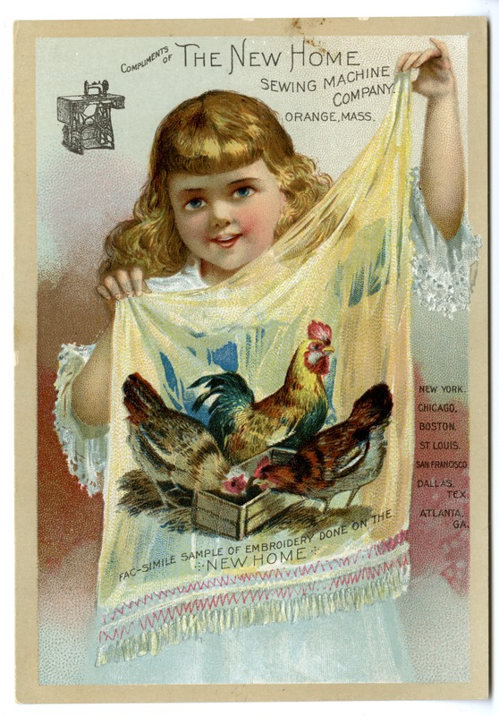 New Home Sewing Machine Company Advertising Card