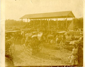 Grandstand at Oxford Agricultural Fair, 1890