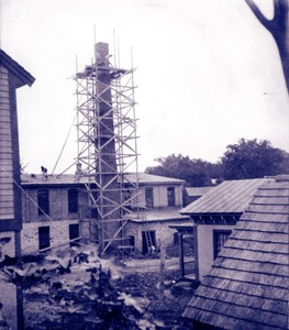 Reconstructing chimney at Taft or 'Old Huguenot Mill', 1902 (2)