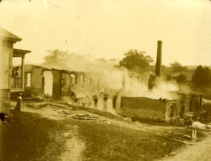 Taft or 'Old Huguenot Mill' after the fire, April 26, 1888