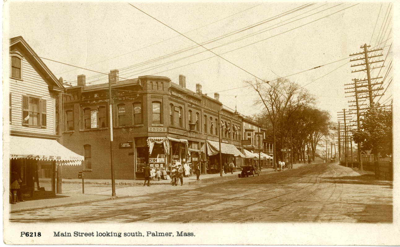 Main Street looking south, Palmer, Massachusetts