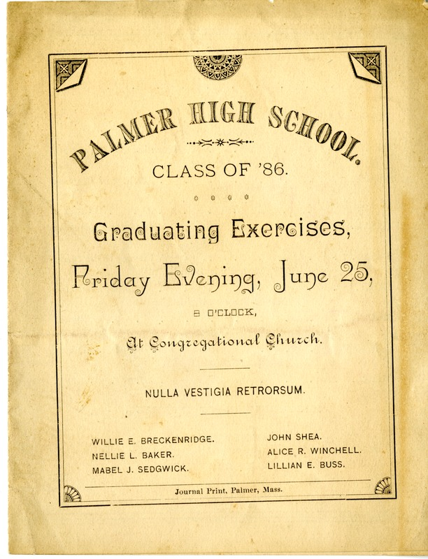 Palmer High School Class of '86 Graduating Exercises