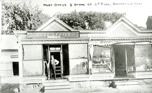 Post Office & Store of J.F. Shea, Bondsville, Mass.