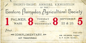 Thirty-third annual Exhibition of the Eastern HampdenAgricultural Society