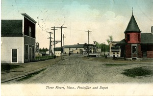 Three Rivers, Mass. Post Office and Depot