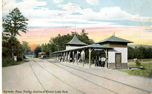 Trolley Station at Forest Lake Park, Palmer, Massachusetts