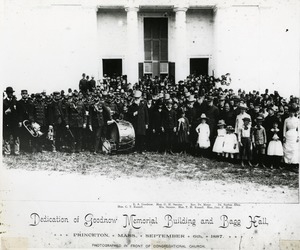 Dedication of the Goodnow Memorial Building and Bagg Hall, 1887