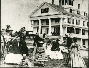 Hotels, Princeton, MA - Prospect House, croquet on Princeton Common