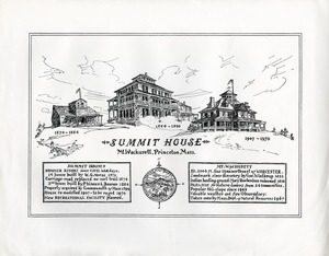 Hotels, Princeton, MA - Summit House, Mount Wachusett, commemorative poster, 1970