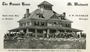 Hotels, Princeton, MA - Summit House, Mount Wachusett, third structure, after 1908