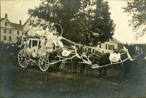 Hotels, Princeton, MA - Wachusett House, stagecoach, first prize winner, Rutland parade, 1901