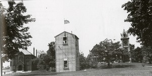 World War II, Princeton, MA - tower on Princeton Common