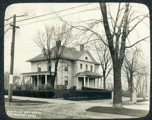 Albert B Wells Residence Main Street Southbridge Massachusetts