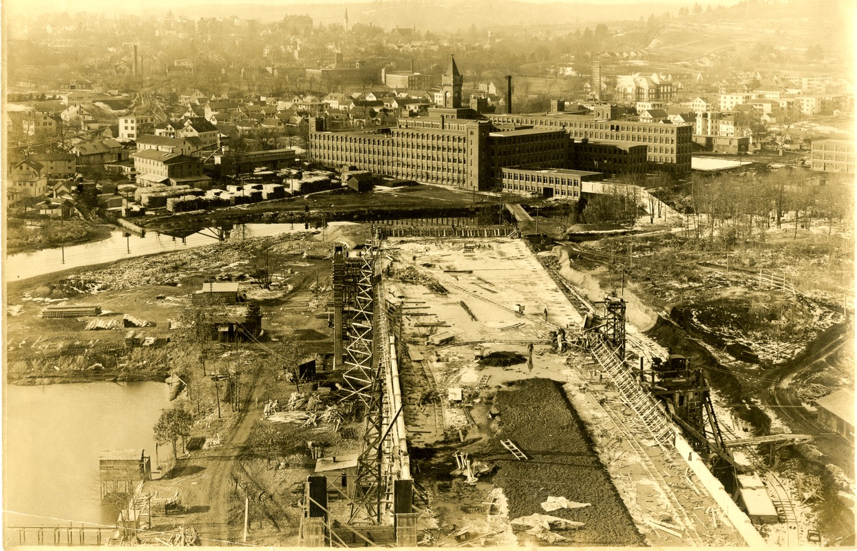 American Optical Company campus and the construction of the cement building (#50)