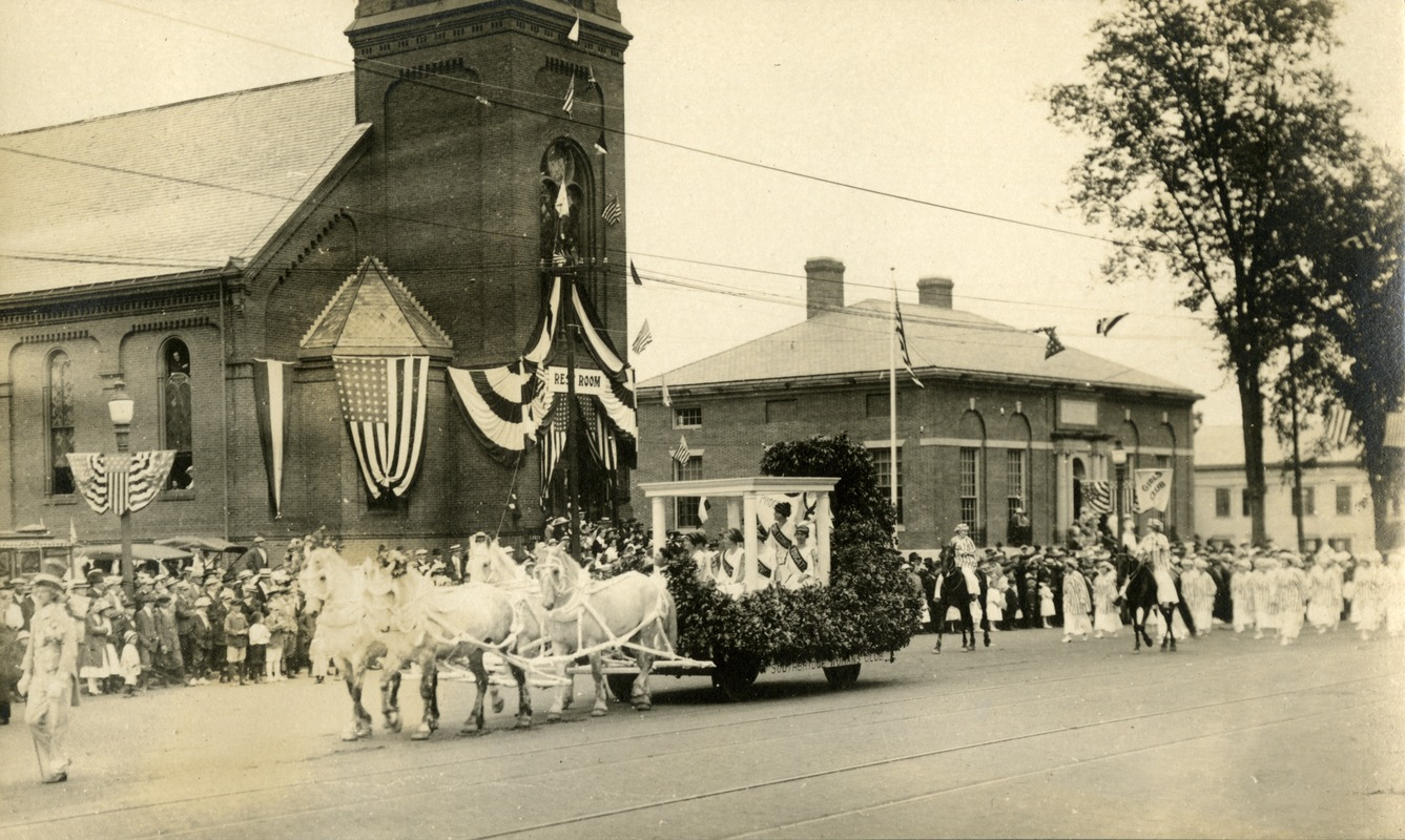 Centennial Parade and Celebrations in Southbridge Massachusetts at Foster Street