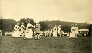 Dancing at Wellsworth Field Southbridge Massachusetts during the Centennial Celebrations