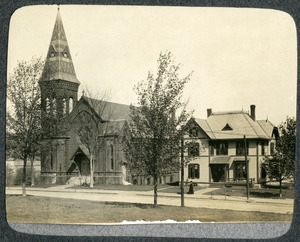 "Evangelical Free ""Union"" Church and Alden House on Hamilton Street Southbridge Massachusetts"