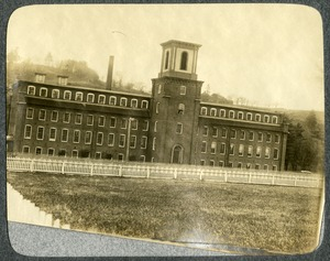 Hamilton Woolen Company, Lower Mill, Southbridge, Massachusetts: view from River Street