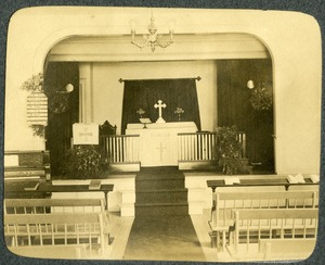Holy Trinity Church interior Southbridge Massachusetts