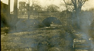 Quinebaug River Central Street Bridge and the Armory Southbridge Massachusetts