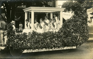 Southbridge Woman's Club Float in 1916 Centennial Parade Southbridge Massachusetts