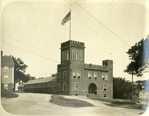 The Armory at the corner of Hook and Central streets Southbridge Massachusetts