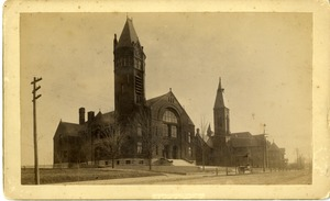 Town Hall, Elm Street Congregational Church and Hartwell Residence Southbridge