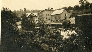 Wickwire-Spencer Steel Company offices and dam on Turkey Hill Brook