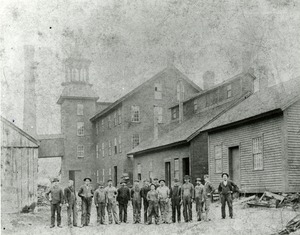 Workers outside Spencer Wire Company