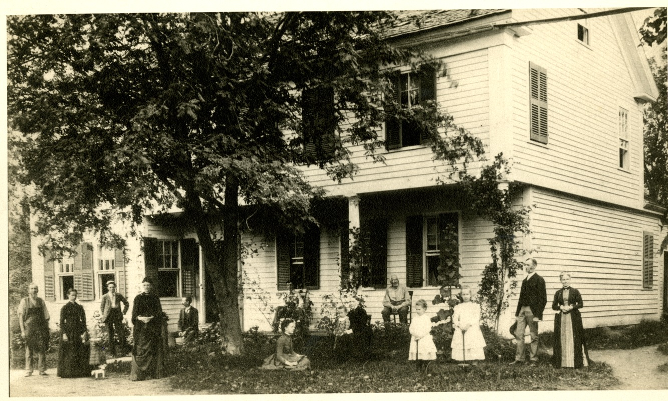 Haynes Family in Front of Home, Sturbridge, MA