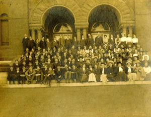 Southbridge High School 1906 - Students and faculty