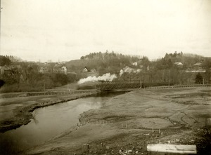 Cleared land in foreground and Nashua River