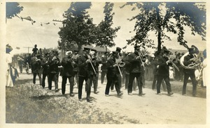 Photo 008 Strachan's 9th Regiment Band of Boston. West Boylston Centennial Parade July 16, 1908