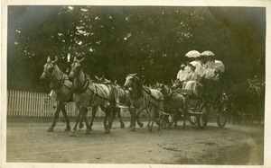 Photo 011 Mr. Edward A. Cowee's float. West Boylston Centennial Parade July 16, 1908