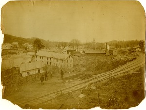 Haydenville after Mill River Disaster, 1874