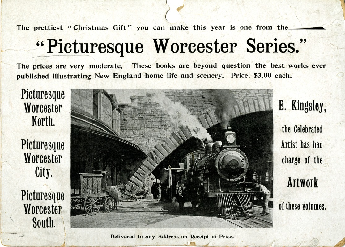 Advertisement for the Picturesque Worcester Series