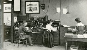The general office of the Woodbury-Carlton Company