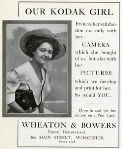 Our Kodak Girl, Wheaton & Bowers, Worcester, Massachusetts