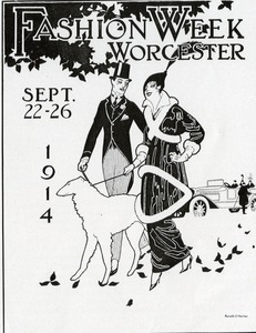 Reproduction of a poster for Fashion Week in Worcester, Massachusetts, 1914
