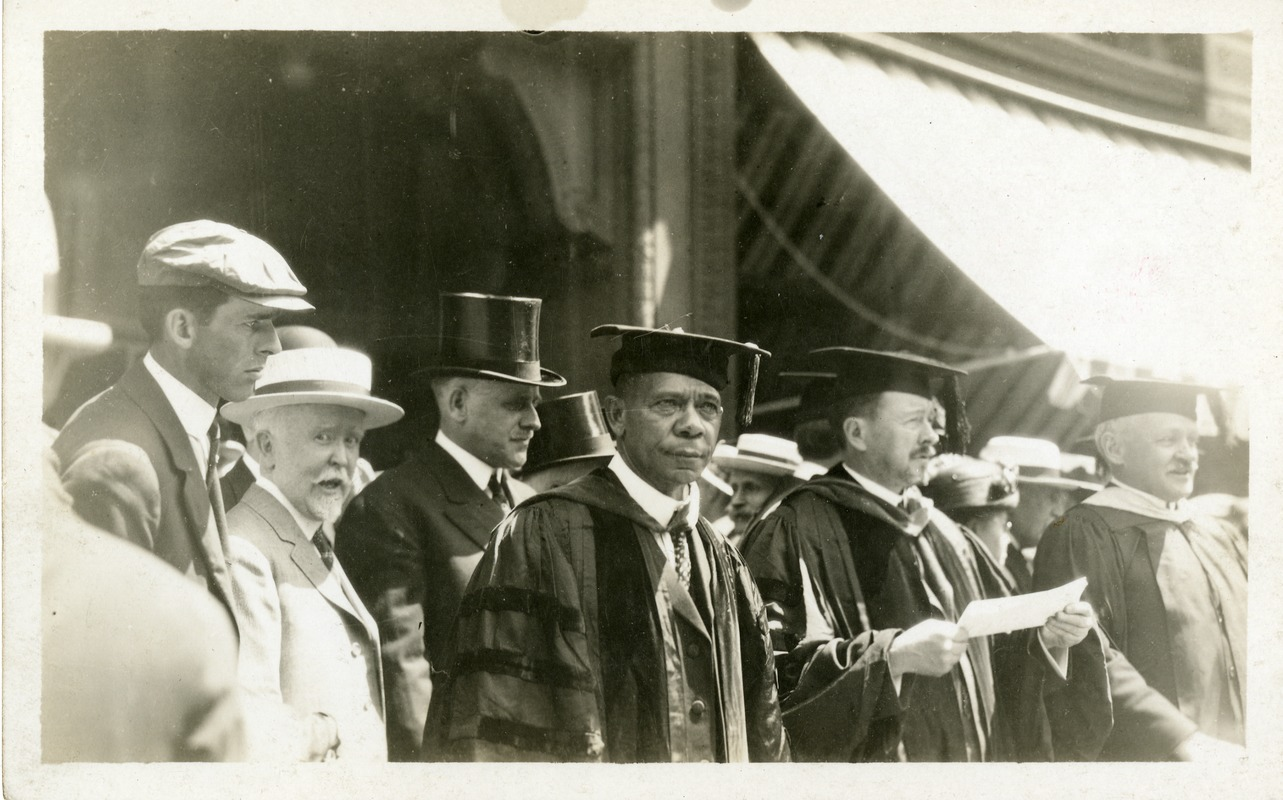 Booker T. Washington at the Fiftieth Anniversary celebration of Worcester Polytechnic Institute