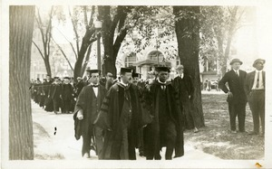 Booker T. Washington walking in the academic procession at the Fiftieth Anniversary celebration at Worcester Polytechnic Institute