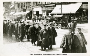 The Academic procession on Main Street