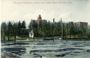 Worcester Polytechnic Institute from Institute Road, Worcester, Mass.