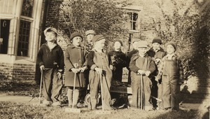 Group portrait with Croquet Mallets