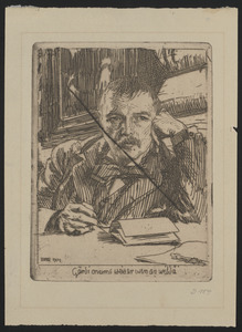 Self portrait with inscription 1904