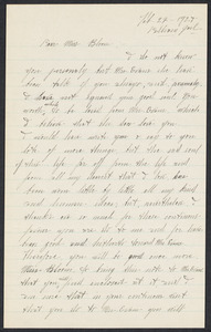 Sacco-Vanzetti Case Records, 1920-1928. Correspondence. Nicola Sacco to Anna Bloom, February 22, 1927. Box 38, Folder 5, Harvard Law School Library, Historical & Special Collections