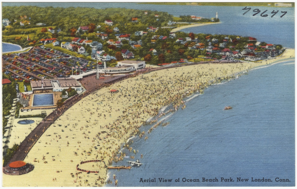 Aerial View Of Ocean Beach Park New London Conn