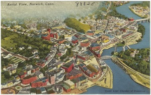 Aerial view, Norwich, Conn.