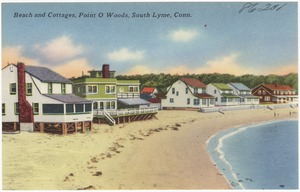 Beach and cottages, Point O' Woods, South Lyme, Conn.