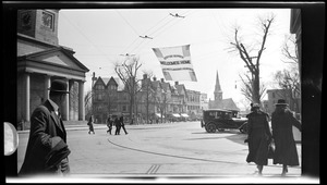 """Welcome Home Flag"" Returning heroes. Quincy Square, 1919"